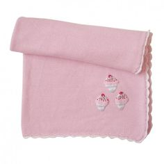 Cup Cake Cot Blanket - 100% Cotton