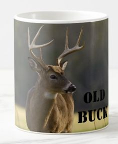 Shop Personalized Funny Old Buck Whitetail Deer Animal Coffee Mug created by fishing_hunting_tees. Stainless Steel Coffee Mugs, Personalized Coffee Mugs, Funny Coffee Mugs, Coffee Travel, Photo Mugs, Funny Jokes, Deer, Monogram, Make It Yourself