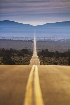 California-drive along this road at afternoon