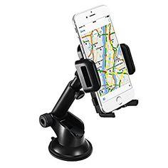 Mpow - Soporte Móvil Coche para Salpicadero (Soporte y Montaje Universal con Ventosa de Gel Más Fuerte y Brazo Ajustable Giro 360 Grado Compatible con iPhone 7/7Plus/6/6s/6Plus/SE/5S y Otros Movíles)
