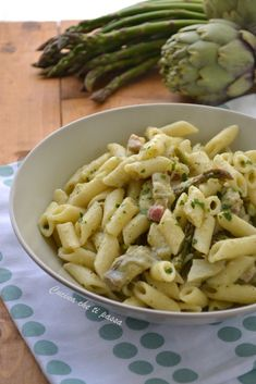 Pasta con carciofi ed asparagi cremosa e senza panna!
