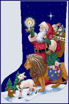 Dimensions 8667 - Santa´s animal parede