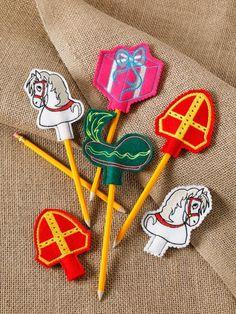 Sinterklaas pencil toppers     borduren editie 75-2021
