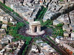 Arc De Triomphe Paris France...the massive size of this beautiful arch is not easily recognized from pics.