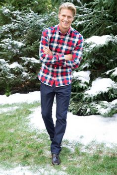 Plaid Oxfords. It's a whole new way to rock the Ox'. #mensfashion #plaid #snow