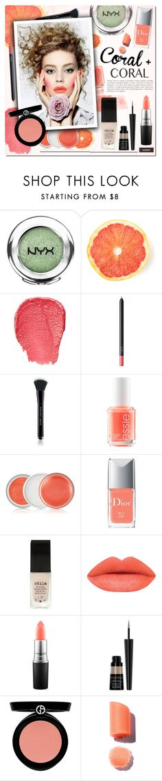 """""""Colal & Coral"""" by justlovedesign ❤ liked on Polyvore featuring beauty, NYX, NARS Cosmetics, Marc Jacobs, Essie, Clinique, Christian Dior, Stila, MAC Cosmetics and Smashbox"""