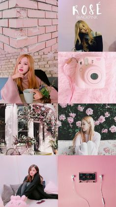Check out Blackpink @ Iomoio Rose Pink Wallpaper, Lisa Blackpink Wallpaper, Black Wallpaper, Trendy Wallpaper, Paint Wallpaper, Wallpaper Desktop, Iphone Wallpapers, Aesthetic Roses, Aesthetic Collage