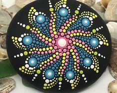 Beautiful, Hand-Painted Mandala Stone, Meditation Stone, Dot Painted, Unique