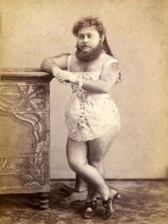 Portrait of a bearded woman.