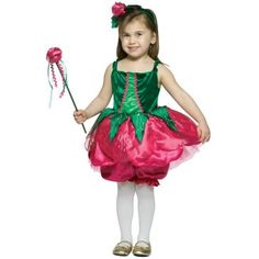 Rose Costume - Your little one will be the prettiest flower in the garden. Rose Toddler Costume includes a green panel top with a dark hot pink petal style. Toddler Costumes, Halloween Costumes For Girls, Christmas Costumes, Baby Costumes, Cool Costumes, Halloween Ideas, Children Costumes, Creative Costumes, Spooky Halloween