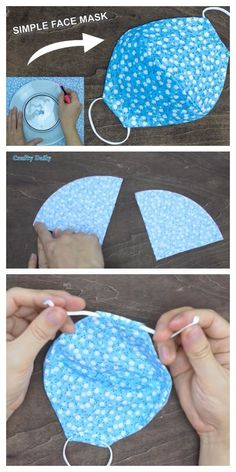 Diy fabric face mask using plate + video fabric art diy diy fabric basket how to make a fabric basket simple easy to tutorial shows how to sew your own fabric basket Diy Sewing Projects, Sewing Tutorials, Sewing Crafts, Hair Tutorials, Sewing Hacks, Art Projects, Sewing Lessons, Diy Crafts, Upcycled Crafts