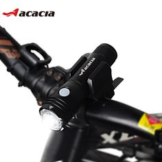 ACACIA Bicycle Accessories Ciclismo Flashlight Cycling Bicycle Lighting Waterproof Front Frame USB Charger Bike Light 05576
