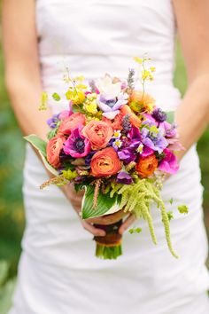 Beautiful bouquet full of colors.