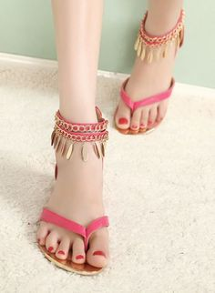 a6a25e33ac8d BLING BLING Metal design Fashion Flat sandal Bling Sandals