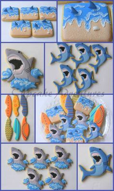 More Cupcake Adventures Shark Week Cookies
