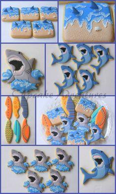 More Cupcake Adventures Shark Week Cookies