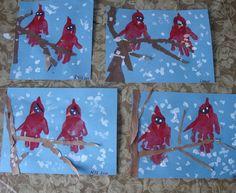 handprint art   10 Winter Paper Art Ideas this Month