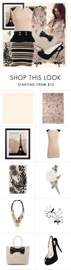 """""""35.Soft! <3"""" by ladycloude ❤ liked on Polyvore featuring Cavallini, Crate and Barrel, Vila Milano, Trina Turk, Victim, Let's Fly, Christian Louboutin and Sretsis"""
