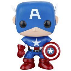 Statuetta decorativa #CaptainAmerica del brand Funko collezione Pop!. Altezza: 10 cm circa.