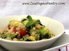 Quinoa Salad with Zucchini and White Beans from One-Dish Vegan