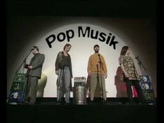 """""""Pop Music"""": Live in Concert: The aged boy group """"Liquid Bread"""" presents its new song 'Pop Musik'. Their chosen intruments are beer bottles, beer cans,a cigarette lighter and a trash can."""
