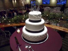 Wedding cake at Prairie Street Brew House in Rockford on 12-29-12