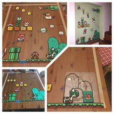 Super Mario World - bead Perler - Bügelperlen Schlüsselbrett-Bügelperlen
