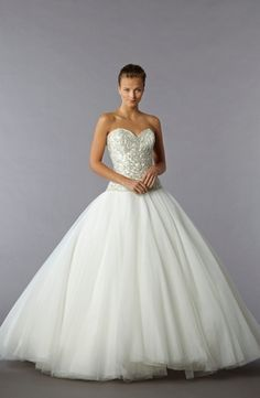 Sweetheart Princess/Ball Gown Wedding Dress  with Dropped Waist in Tulle. Bridal Gown Style Number:32777773
