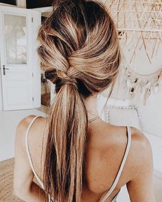 Pretty braid hairstyle