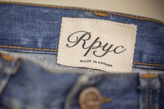 Woven label made in Italy by Panama Trimmings #denim #details #vintage #labeling
