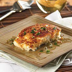 {halibut piccata} lemony goodness + crispy crust.