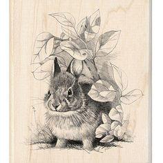 Inkadinkado Bunny Retreat Rubber Stamp - Overstock™ Shopping - Big Discounts on Inkadinkado Wood Stamps