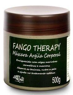 Arte dos Aromas Fango Therapy Máscara de Argila Corporal. Proporciona um poderoso tratamento detox. É enriquecida com argila natural e algas marinhas vermelhas e marrons. Absorve e elimina as toxinas, ativa a circulação linfática e reduz medidas.
