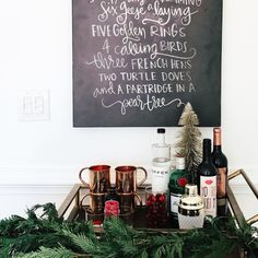 Our holiday bar cart + the most festive drink recipe is on the blog.  Also, I gotta know, have you played the Christmas Vacation drinking game this year?! The link is in the post as well, tag a friend who needs to get their Griswold on this weekend!!