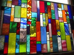 DAZZLE ME 2 Custom stained glass window for by stanfordglassshop, $625.00