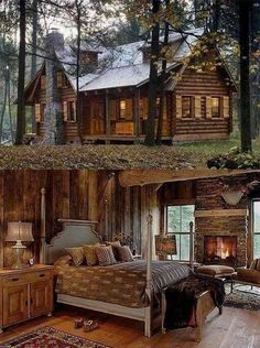 Su cabañita en el bosque...