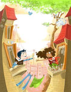 Kids book Illustration- I like this style Love Art Images, High School Art, Illustrations, Cute Illustration, Love Is Sweet, Book Nerd, Black Art, Art Education, Art For Kids