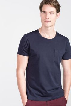 Cortefiel Basic t-shirt Blue