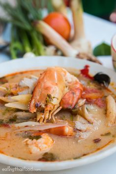 In this Thai tom yum soup recipe (ต้มยำกุ้ง) you'll learn how to make the authentic taste of this popular Thai dish. Enjoy!
