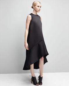 Co High-Low A-Line Satin Dress