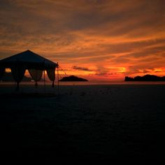 Another flaming sunset in Langkawi...