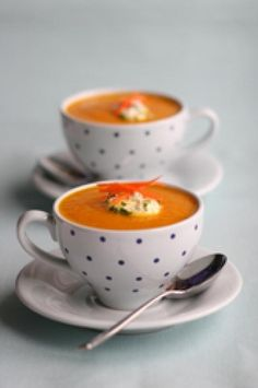 Carrot and Ginger Soup, Lemon Cream Recipe - Photo © British Carrots