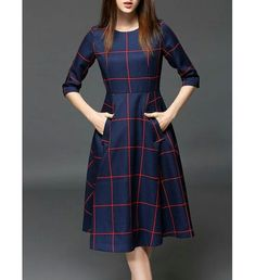 Pockets Color Block Midi Dress Work outfits for dresses casual outfits classy fashions lovely 2019 fall dress outfits Stylish Dresses, Casual Dresses, Modest Dresses, Modest Outfits, Casual Outfits, Pretty Dresses, Beautiful Dresses, Modest Fashion, Fashion Dresses