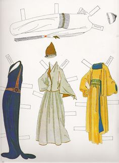 Erté Fashion Paper Dolls  Some of these waists are a lot higher than people keep saying they were. I'm debating the blue slinky thing.
