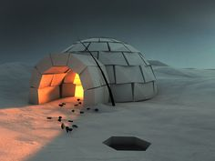 Dribbble - Cozy Igloo by Runar Finanger #lowpoly