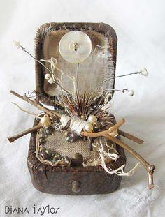 Winter Garden ring box assemblage by Velvet Moth Studio