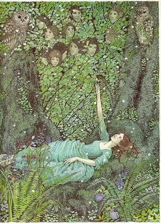"""""""The Wild Swans"""" illus. Susan Jeffers (The picture book I grew up with, the illustrations of which had a huge influence on The Swan Kingdom)"""