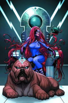Medusa & Lockjaw by Frank Cho #Inhumans