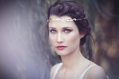 The Elf Crown Bridal Hair Accessories, Gold Fantasy Wreath, Elf Headband, Lord Of The Rings Jewelry, Burning Man, Fairy Crown, Forehead band