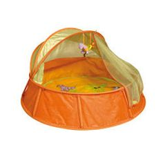 ymoov Babyni is a very unique product which offers a number of different functions from travel cot to playpen  Anti UV tent and is fantastic value for money as your child will still want to enjoy Babyni for many years  When the BabymoovBabyni is put up, the base size is 98cm and in depth Babyni is 56cm, this is slightly lower than a conventional travel cot so obviously baby must be supervised as they get older. #Nursery